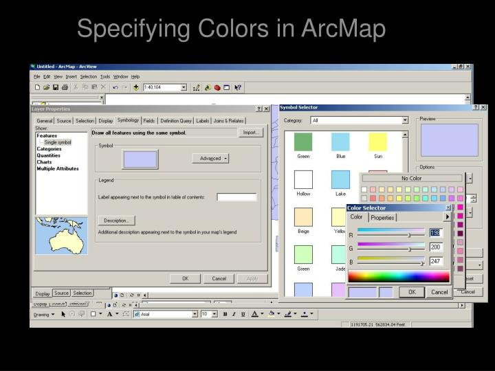 Specifying Colors in ArcMap