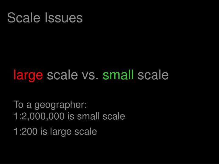 Scale Issues