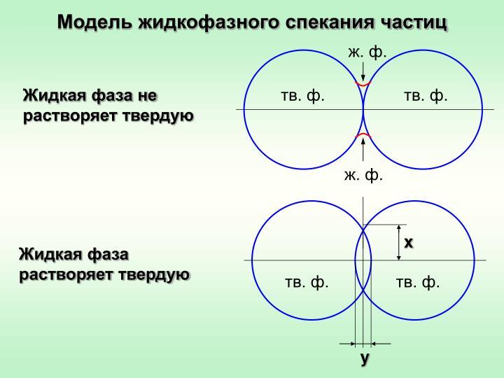Модель жидкофазного спекания частиц