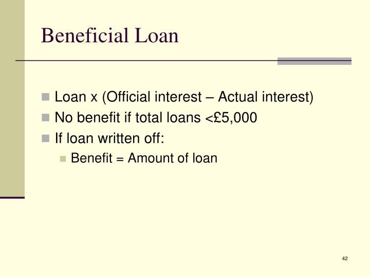 Beneficial Loan