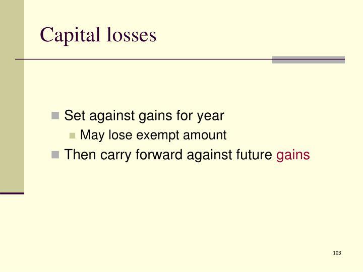 Capital losses