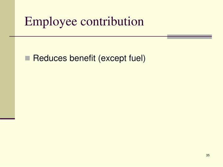 Employee contribution