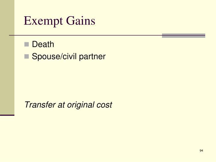 Exempt Gains