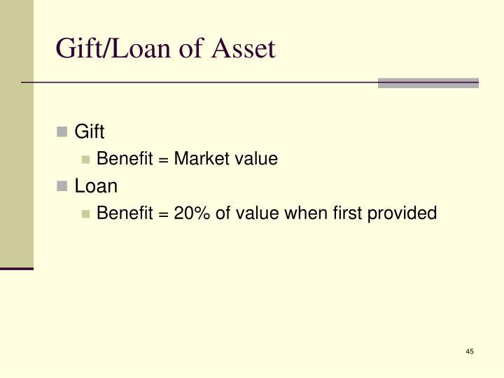 Gift/Loan of Asset
