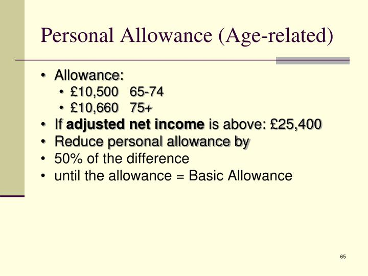 Personal Allowance (Age-related)