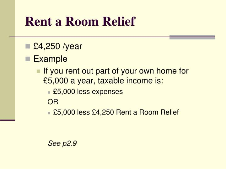 Rent a Room Relief