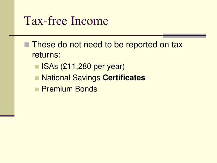 Tax-free Income