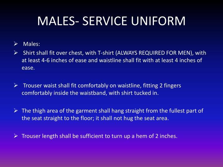 MALES- SERVICE UNIFORM