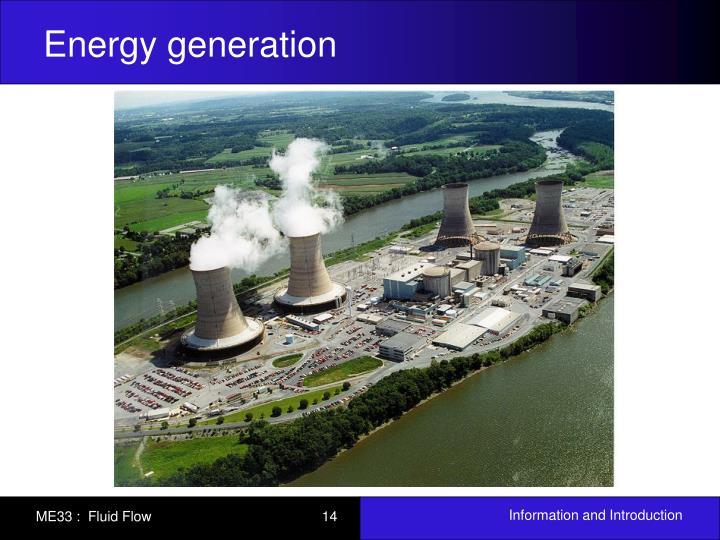 Energy generation