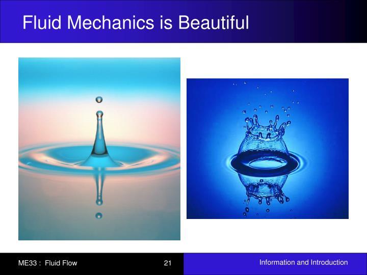 Fluid Mechanics is Beautiful