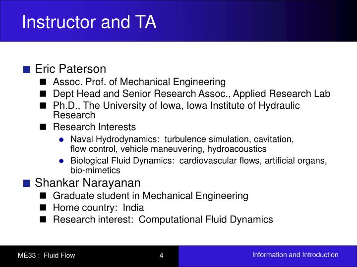 Instructor and TA
