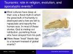 tsunamis role in religion evolution and apocalyptic events
