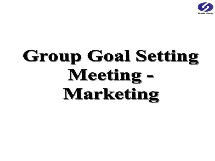 Group Goal Setting