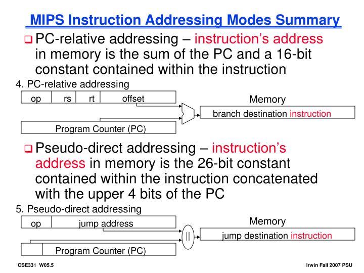 4. PC-relative addressing