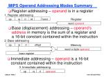 mips operand addressing modes summary