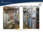 daresbury laboratory plant room 1 rf test area