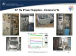 rf hv power supplies components