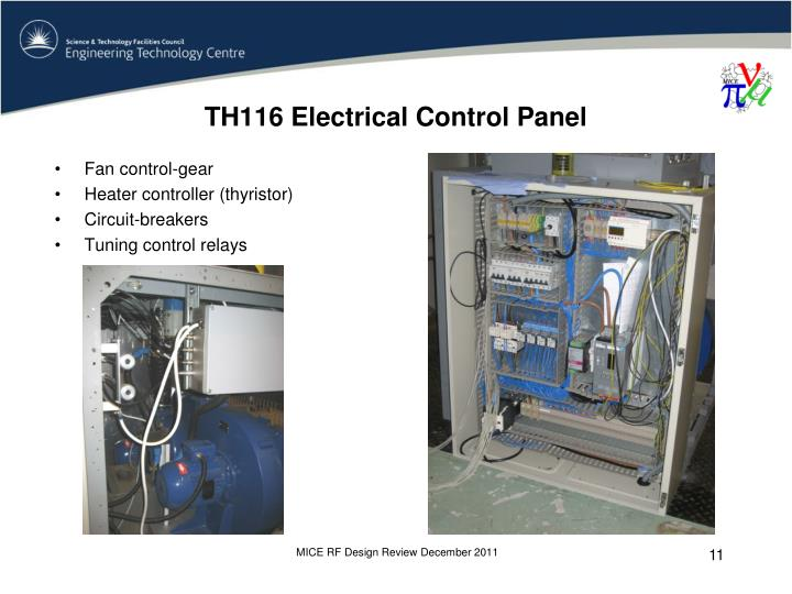 TH116 Electrical Control Panel