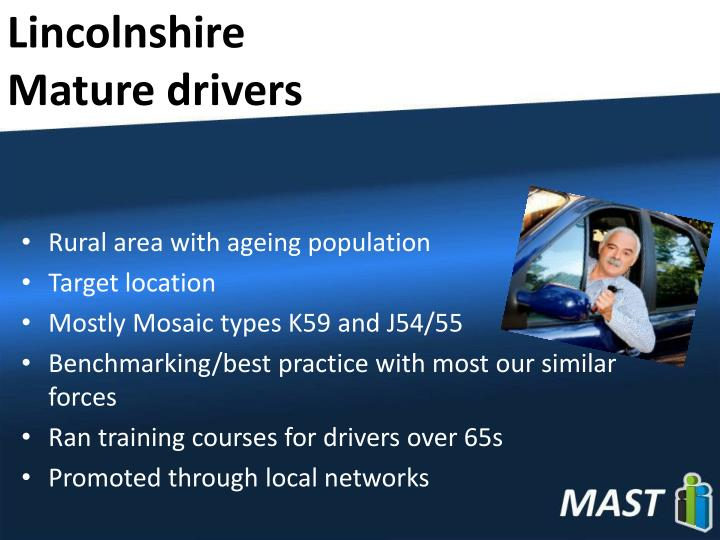 Lincolnshire mature drivers