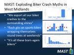 mast exploding biker crash myths in west midlands