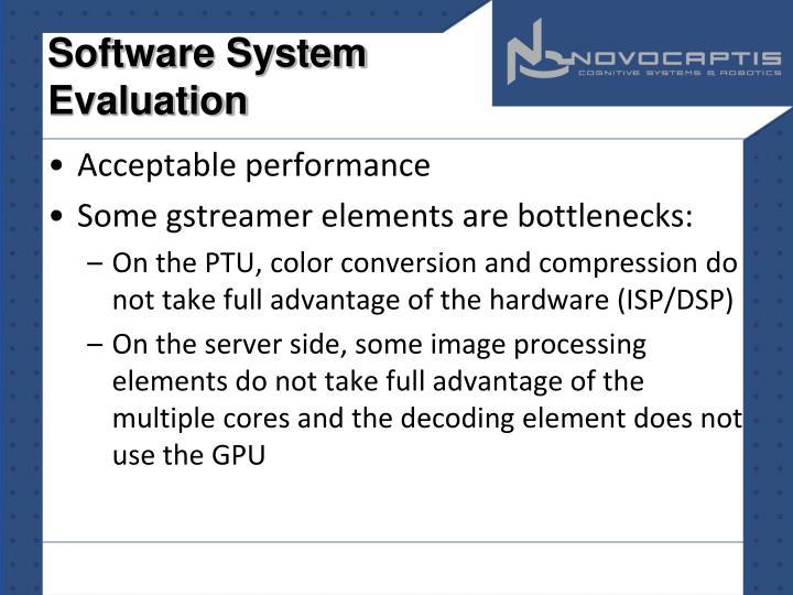 Software System Evaluation