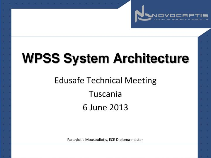 WPSS System Architecture
