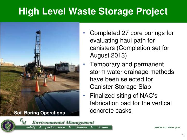 High Level Waste Storage Project