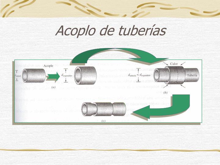 Acoplo de tuberías