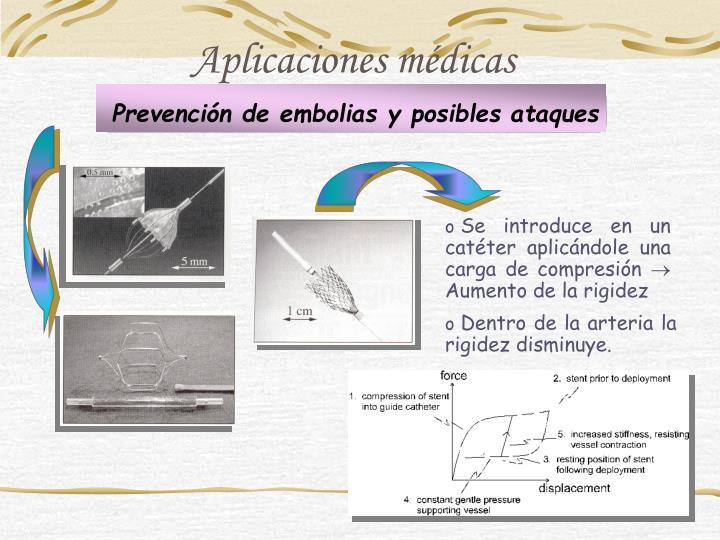 Prevención de embolias y posibles ataques