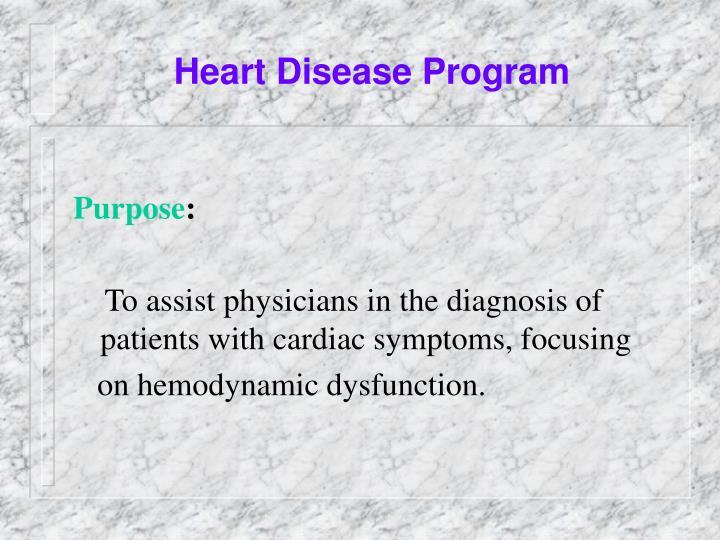 Heart Disease Program