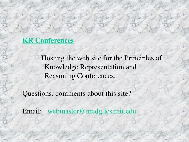 KR Conferences
