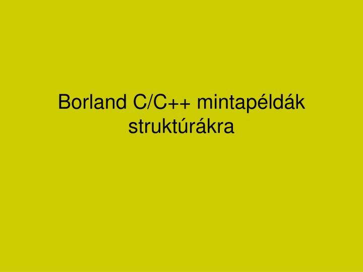 borland c c mintap ld k strukt r kra