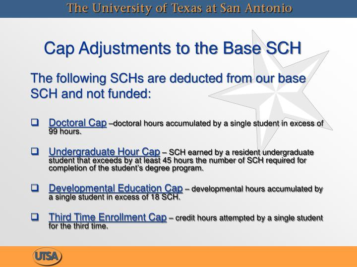 Cap Adjustments to the Base SCH