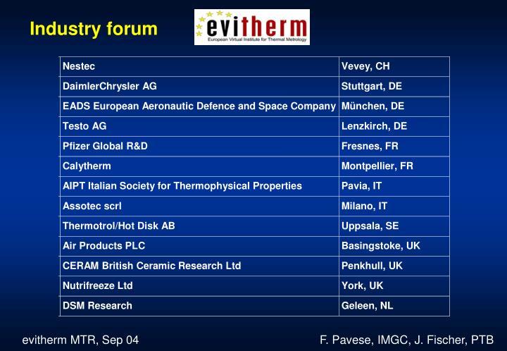 Industry forum