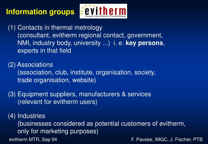 Information groups