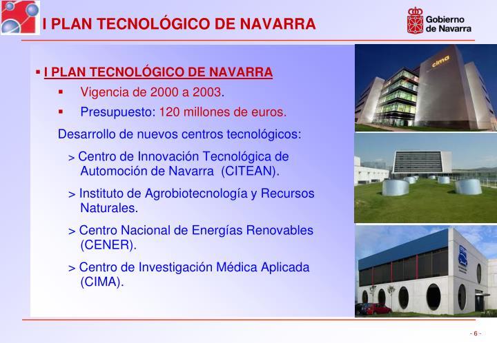 I PLAN TECNOLÓGICO DE NAVARRA