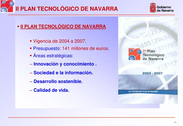 II PLAN TECNOLÓGICO DE NAVARRA