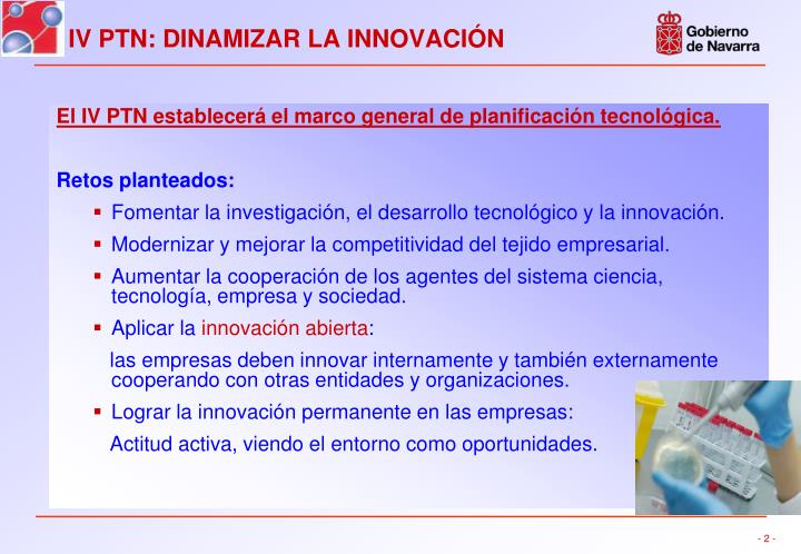El IV PTN establecerá el marco general de planificación tecnológica.