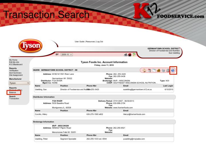 Transaction Search