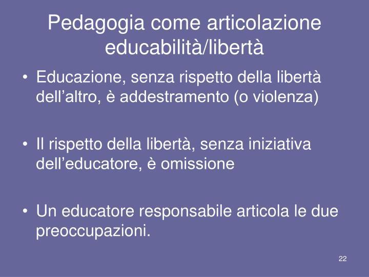 Pedagogia come articolazione