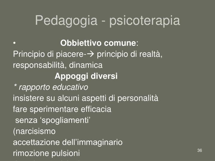 Pedagogia - psicoterapia