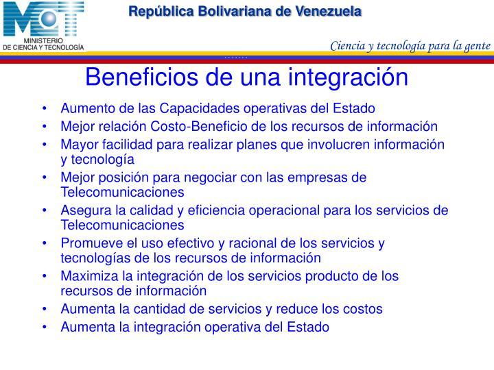 Beneficios de una integración