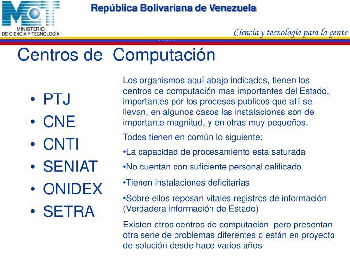 Centros de  Computación