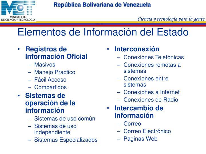Registros de Información Oficial