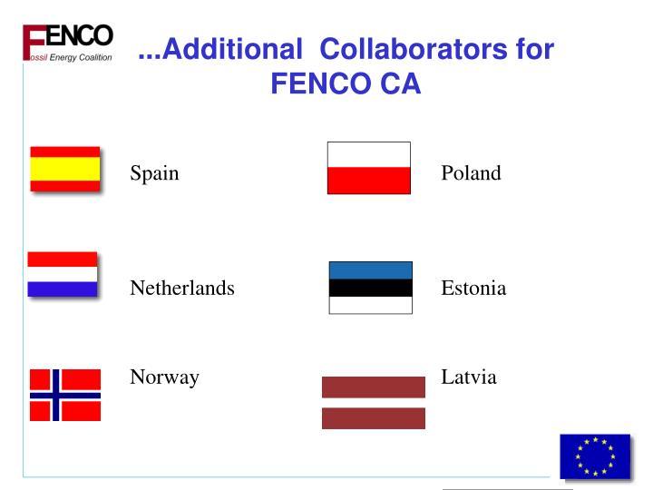 ...Additional  Collaborators for FENCO CA