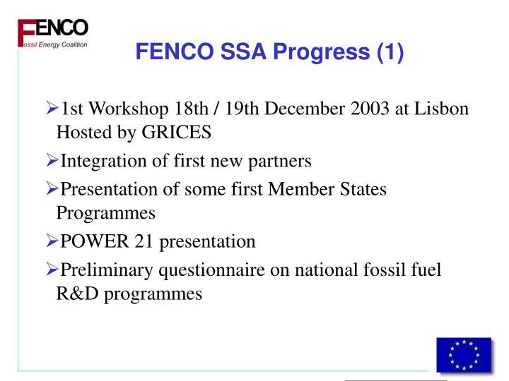 FENCO SSA Progress (1)