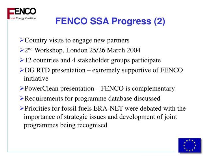 FENCO SSA Progress (2)