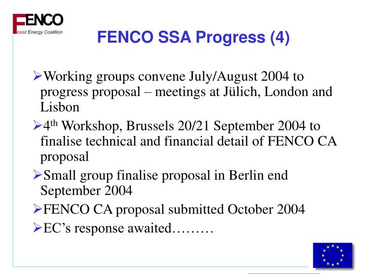 FENCO SSA Progress (4)