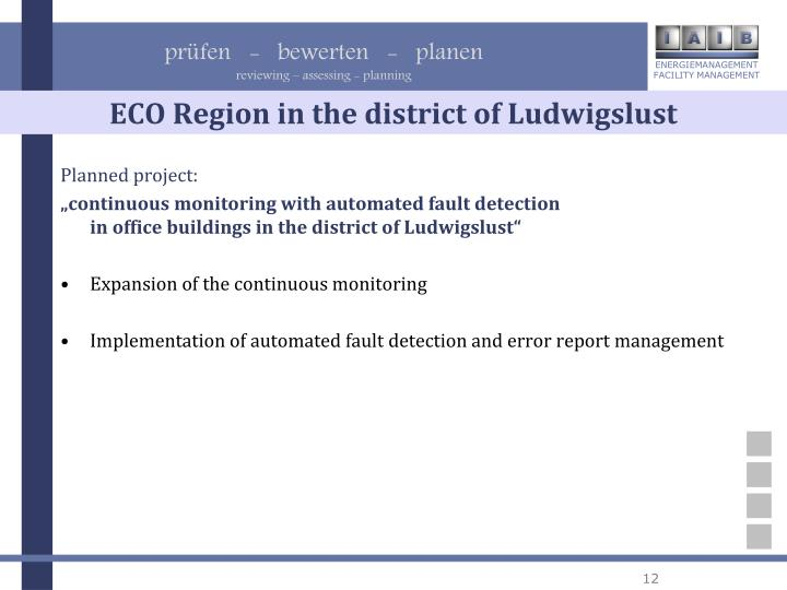 ECO Region in the district of Ludwigslust