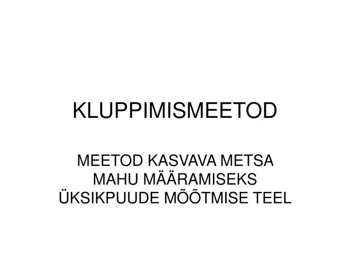 KLUPPIMISMEETOD